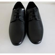 Zapato De Vestir Hombre Cuero Genuino Asos Negro Nuevos 44
