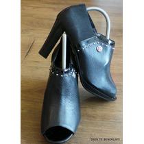 Brighton Botas Zapatos Cuero Charol Metal 71/2