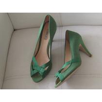 Zapato Verde, Textil, Zara, Talla 38