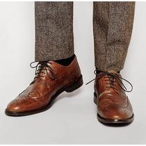 Zapatos Brogues 100% Cuero Asos Cafe Cognac Nuevos 36