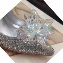 Zapato Novia Brillante Plateado Taco 10cm