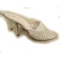 Sandalias, Chalas, Zapatos De Mujer Mingo 100% Cuero Blanco