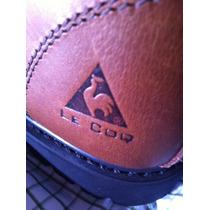Zapatos De Seguridad N 45 Café Cuero Y Nobuk Marca Le Coq.