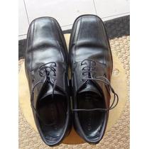 Zapatos Cuero Negro Guante 43