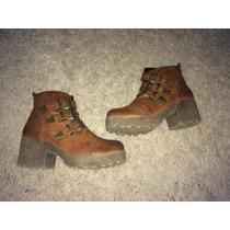 Lindos Botines Botas Zapatos Top Color Café Terraplen