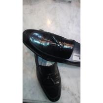 Zapato Italiano Moreschi Color Negro 43 Diseño Exclusivo