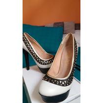 Hermosos Zapatos Taco Alto Muy Cómodos 36