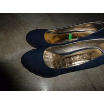 Hermosos Zapatos Azul-taco Magnolia Ideal Para Oficina