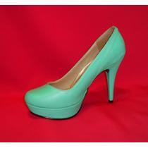 Zapato Mujer Plataforma 10 Menta Pistacho Talla 36