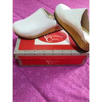 Zapatos Mujer Zueco Blanco 100 %cuero Nuevos