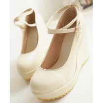 Zapatos De Novia Plataforma Nro.39 (max)