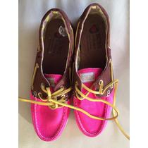 Mocasín Skechers Zapato Mujer Rosado Y Cafe N°38 Bobs Usa