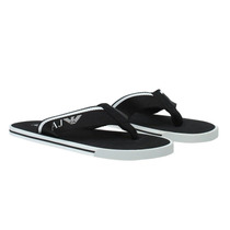 Sandalias Chalas Flip Flops Armani Jeans Negro Blanco 8,5us