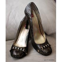Elaine Turner Zapatos Fiesta Dorados Negros 40