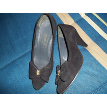 Zapatos Cuero Y Suela, Para Fiesta O Vestir, Poco Uso