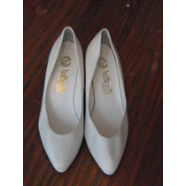 Zapato Blanco, Novia, Cuero, Botticelh Santiago, Talla35