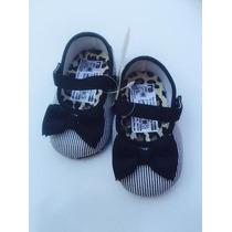 Zapatos Zapatillas Bebe Mothercare Negro Y Plateado