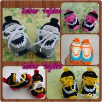Zapatos Para Bebe Tejidos 0_9 Meses Por Encargo