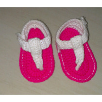 Sandálias Tejidas Crochet Bebe 2-5 Meses