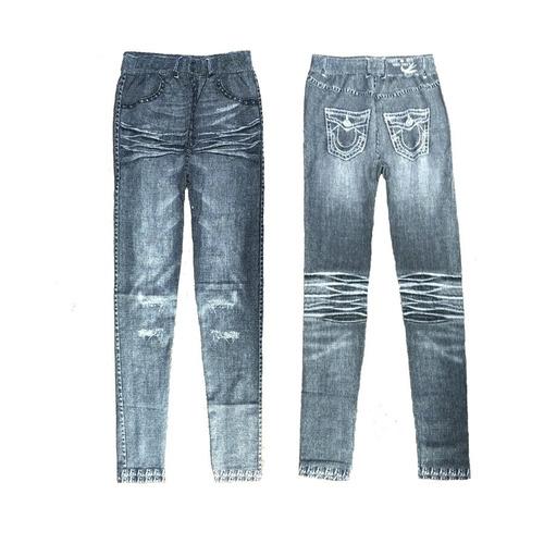calzas estampadas con diseño jeans nuevas legeans localizada