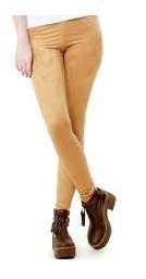 calzas gamuzadas chupin en color camel