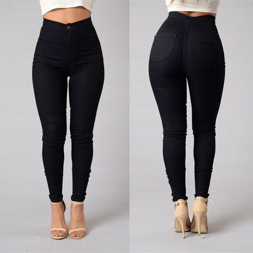 calzas jeans leggins tiro alto skinny con polar colores vari
