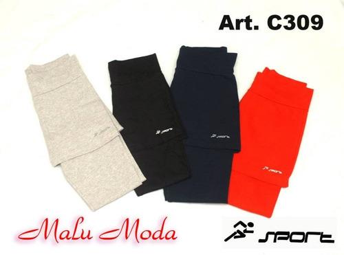 calzas largas chupin con pollera algodon elastizado