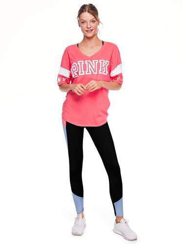 calzas leggings ultimate coral celest pink m victoria secret