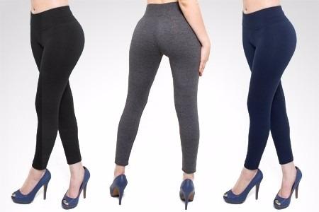 calzas leggins lycra y algodon de dama todos los talles