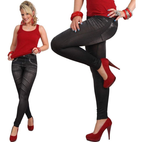calzas leggins tipo jean efecto push up