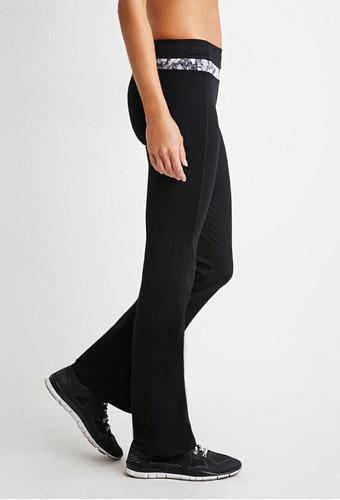 calzas rectas leggings hym negras tiro medio buena calidad