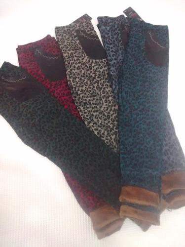 calzas termicas con piel en el interior, super calentitas!!!