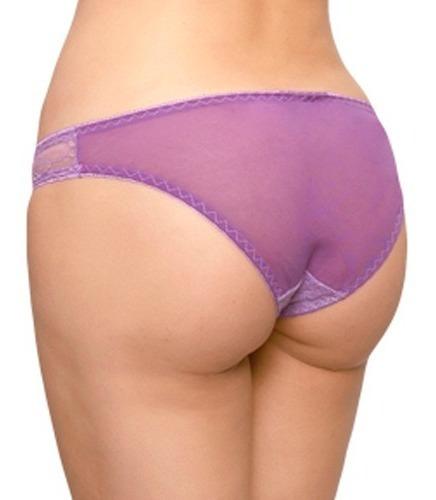 calzón bikini de encaje con mesh y listón 73138 carnival