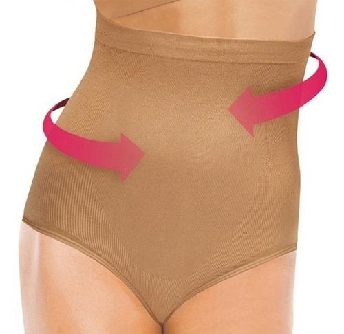calzón faja alto control abdominal banda silicona antidesliz