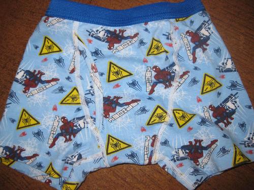 calzoncillos boxer nene niño talle 6 hombre araña importado