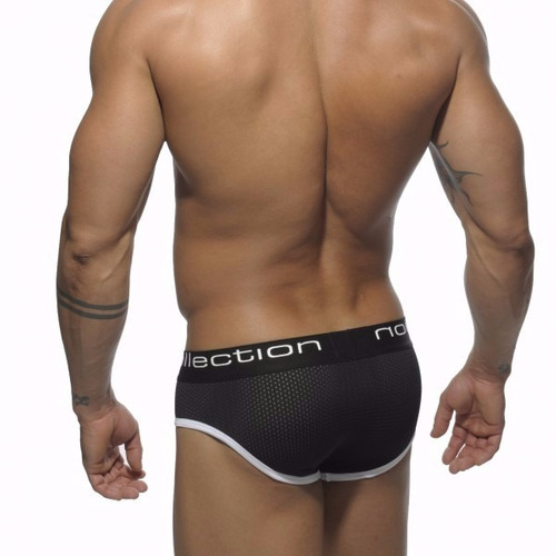 calzoncillos rejilla mesh brief es collection un102 negro