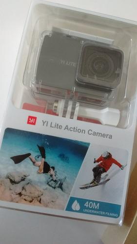 cam. xiaomi yi lite 4k 16mp + acessórios + cartão de memória