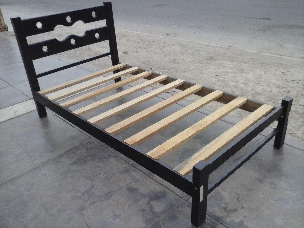 Cama 1 1 2 madera capirona envejecido a 205 soles s 205 for Cama de 54 pulgadas
