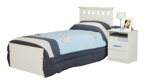 cama 1 plaza + chifonier + mesa de luz + placard 4 puertas