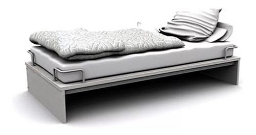 cama 1 plaza compacta con sujetacolchón 190x90 la valenziana