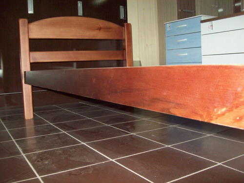 cama 1 plaza _ madera maciza , artico 5 años garantía