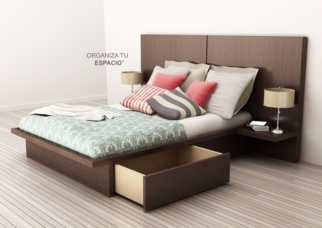 Cama 2 Plazas 4 Cajones Dormitorio Oferta Ote Muebles - $ 8.190,00 ...