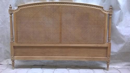 cama 2 plazas antigua estilo luis xvi c/ esterilla 1,50 m