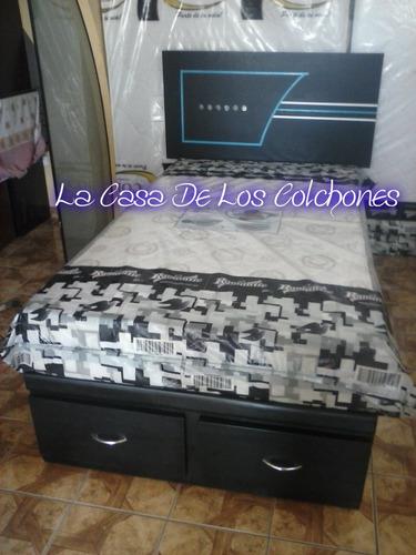 cama 2 plazas con 2 cajones ( articulo nuevo )