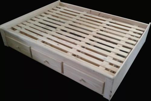 cama 2 plazas con cajones debajo. ideal optimizar espacio!