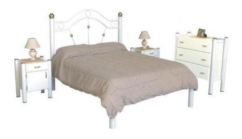 cama 2 plazas de 1.40 x 1.90 sin colchon art (1106)