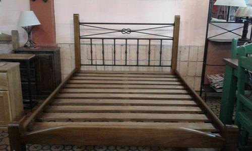 cama 2 plazas - fuertes y bien lustradas