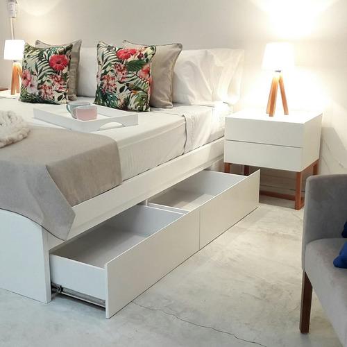 cama 2 plazas laqueada con cajones cama box forbidan muebles