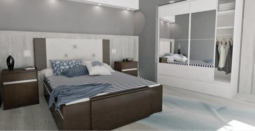 cama 2 plazas multifuncion c/ cajones extensible de 1,4 a 2m