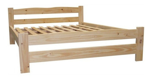 cama 2 plazas pino rosario, fortaleza para colchon 140 x 190